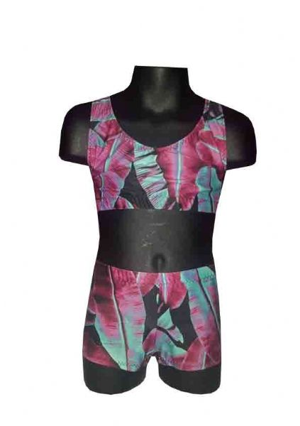 Pink Leaf 1 Shorts and Crop Top Set  From £32.95
